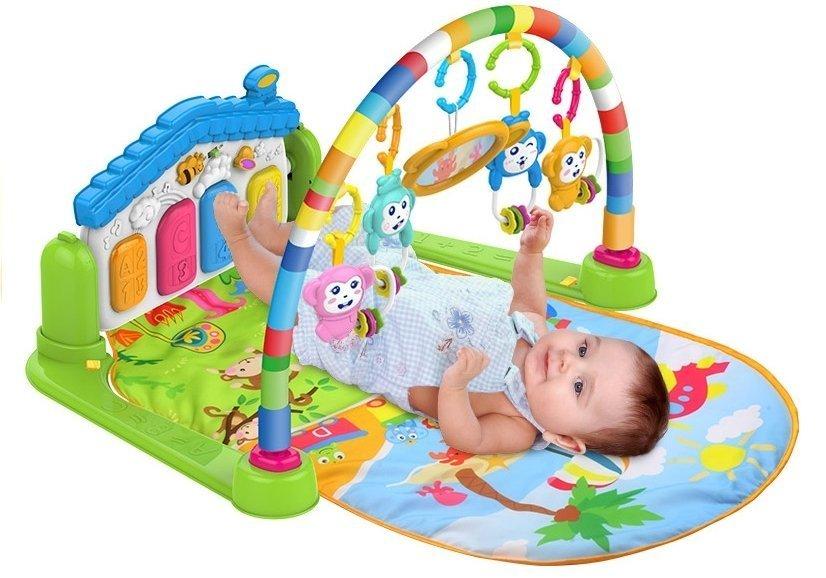 krabbeldecke spieldecke f r babys piano 4 rasseln spiegel. Black Bedroom Furniture Sets. Home Design Ideas
