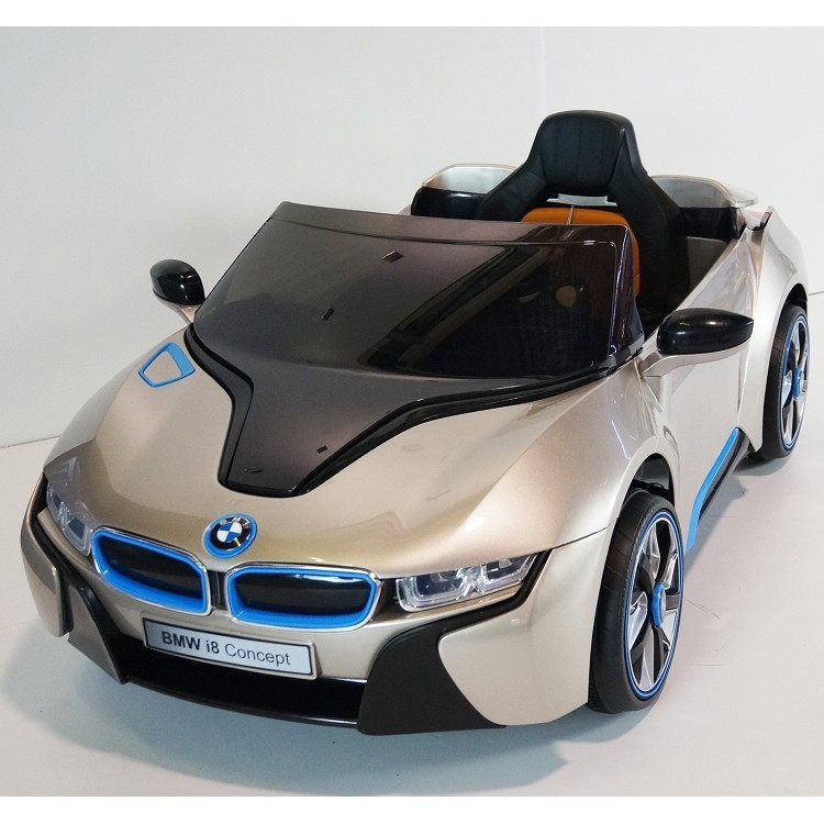 Kids Electric Ride On Licensed Bmw I8 2 X 45w 2 X 6v Champagne Extra