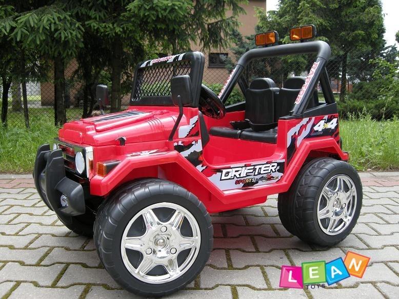 jeep raptor elektroauto f r kinder rot kinderauto 2x45w. Black Bedroom Furniture Sets. Home Design Ideas