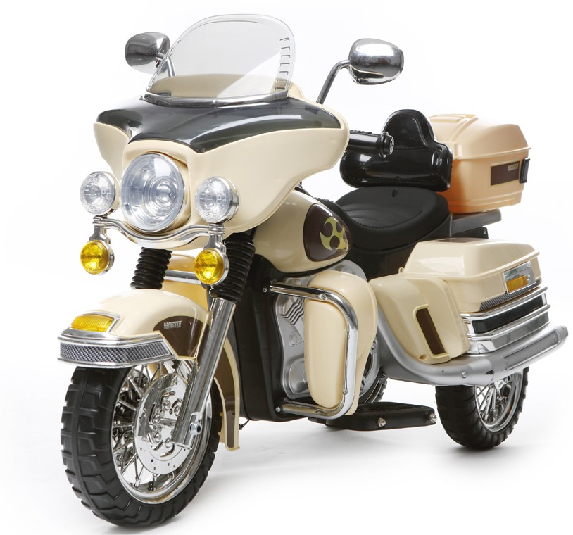 dreirad motorrad elektromotorrad f r kinder 2x6v 2x35w creme elektrofahrzeuge motorr der. Black Bedroom Furniture Sets. Home Design Ideas