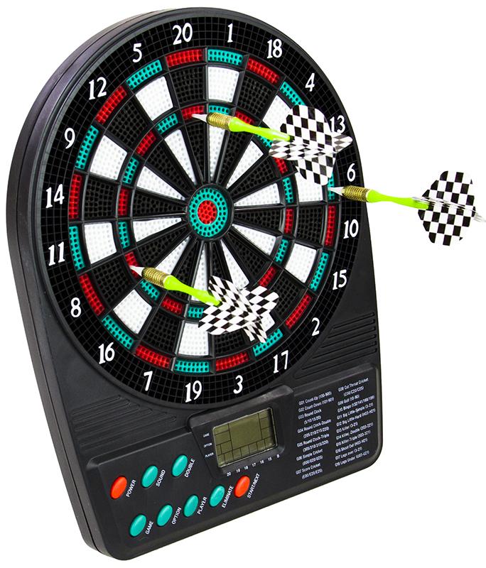 dartscheibe dartboard dart scheibe dartpfeile elektronisch spielzeug spiele. Black Bedroom Furniture Sets. Home Design Ideas