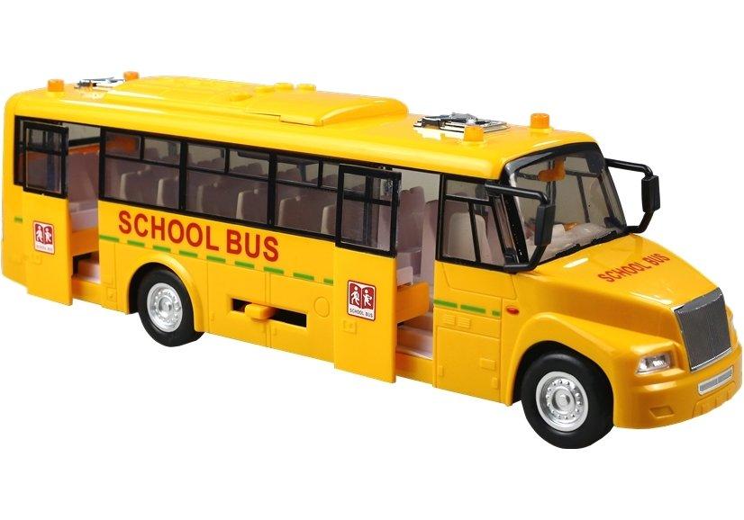 Autobus Szkolny Bus Baterie Ruchome Drzwi Światło - 2232 - LeanToys