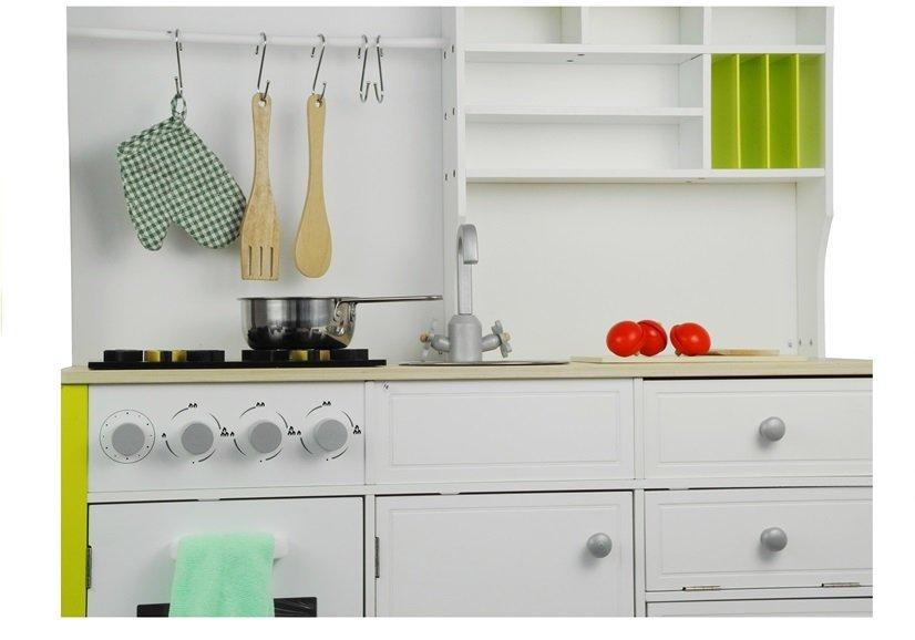 Drewniana Kuchnia Dla Dzieci Zielono Biała Leantoyspl