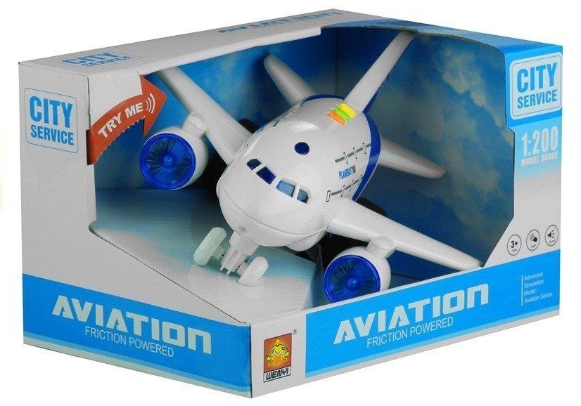 Samolot z Napędem Świeci Gra Biały 1:200