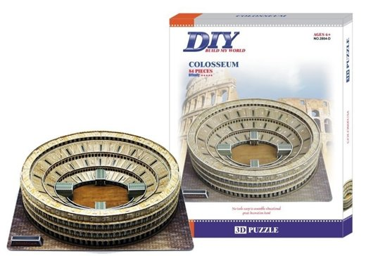 Puzzle 3D Ateny Colosseum Petronas Towers 84 el.